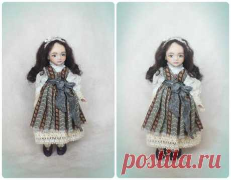 Doll from polymeric clay. Author mk Yulia Titova (WHITE FLOWER)