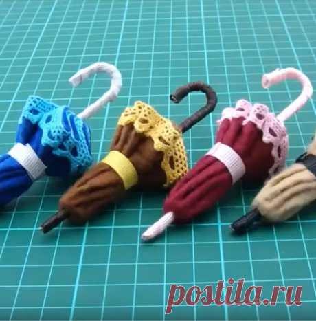 Как сделать зонт для куклы своими руками