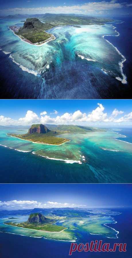Подводный водопад на острове Маврикий | ТУРИЗМ И ОТДЫХ