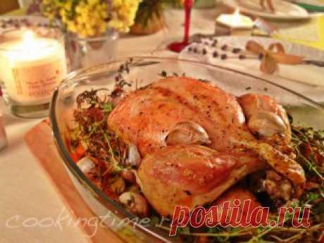 Кухня Прованса - Курица с 40 зубчиками чеснока