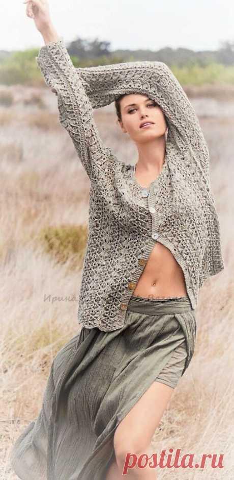 Семь замечательных свежих сабриновских моделей спицами к концу летнего сезона | Ирина СНежная & Вязание | Яндекс Дзен