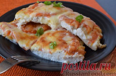 Рецепт: Куриное филе, запеченное с помидорами и сыром на RussianFood.com