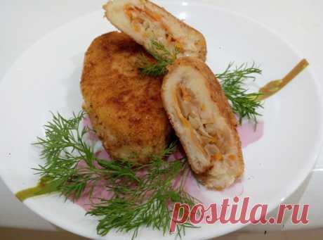 Вкусные картофельные зразы с квашеной капустой
