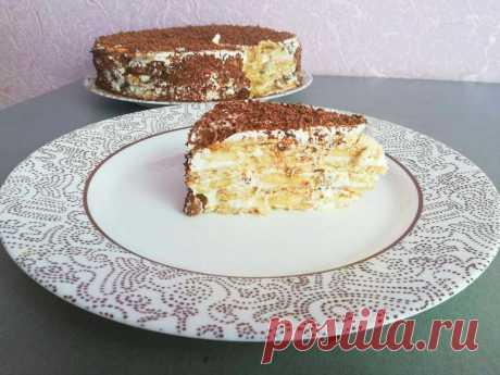 Торт без выпечки с бананами, не нужно ни духовки, ни теста, ни желатина!   Рецепты Светланы Аникановой   Яндекс Дзен