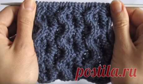 Двухсторонние узоры спицами для шарфов, снудов