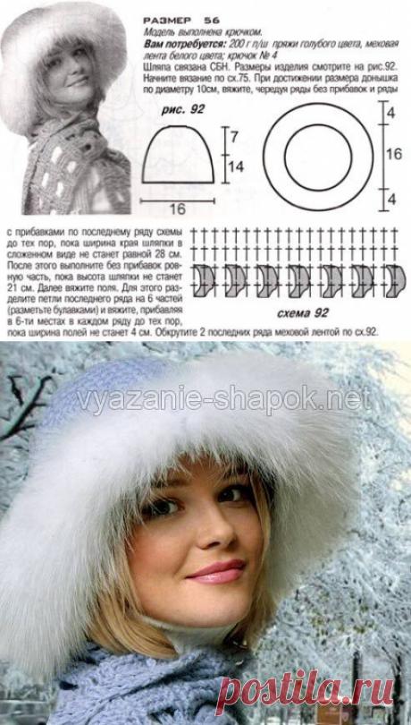 Меховая шапка своими руками с вязаным верхом | Вязание Шапок - Модные и Новые Модели