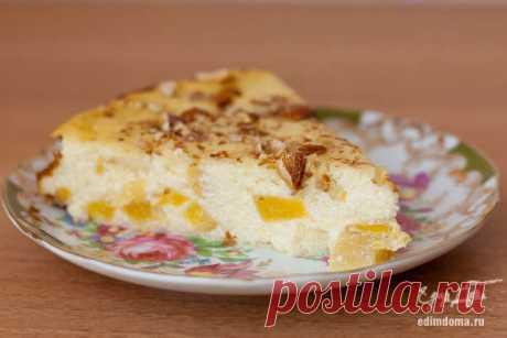 Низкокалорийный десерт : Творожная запеканка с персиком