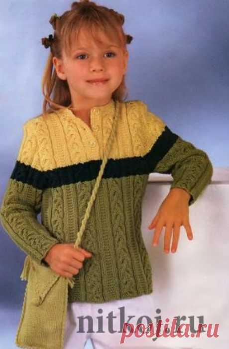 Детский свитер спицами » Ниткой - вязаные вещи для вашего дома, вязание крючком, вязание спицами, схемы вязания