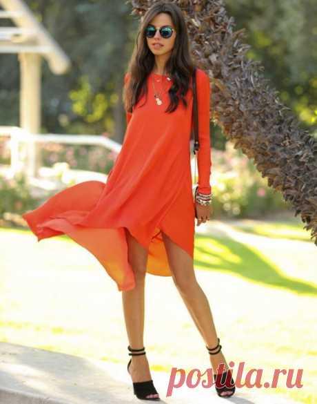 Оранжевый цвет, с чем сочетается в женской одежде. Оранжевый цвет – это что-то среднее между жёлтым и красным. Соответственно, оранжевый перенял свойства этих цветов. Оранжевый цвет единственный, не имеющий холодных оттенков в своей палитре. В переводе с французского означающий «апельсин», оранжевый цвет олицетворяет плодородие и, благодаря этому, доминировал в одеяниях некоторых греческих муз.