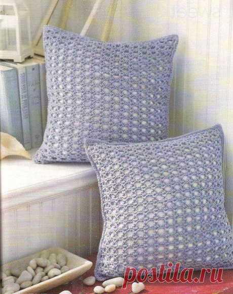 Ажурная наволочка для подушки