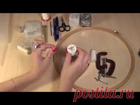 Материалы для курса по тамбурной вышивке ( вышивка люневильским крючком, люневильская вышивка )