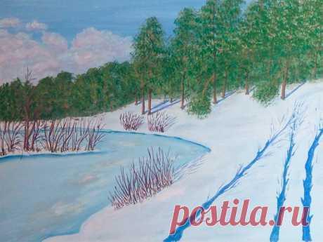 Разбираю пейзажи художницы самоучки из Сыктывкара – говорим о живописности | Муки творчества | Яндекс Дзен