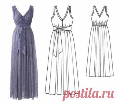Como coser el vestido griego: el patrón del vestido en el estilo griego
