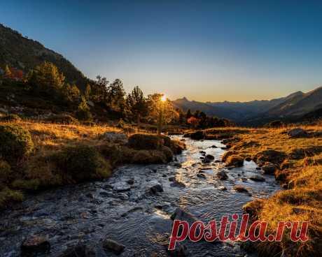 Картинки горы, камни, закат, осень, андорра, sorteny, pyrenees, природа - обои 1280x1024, картинка №419680