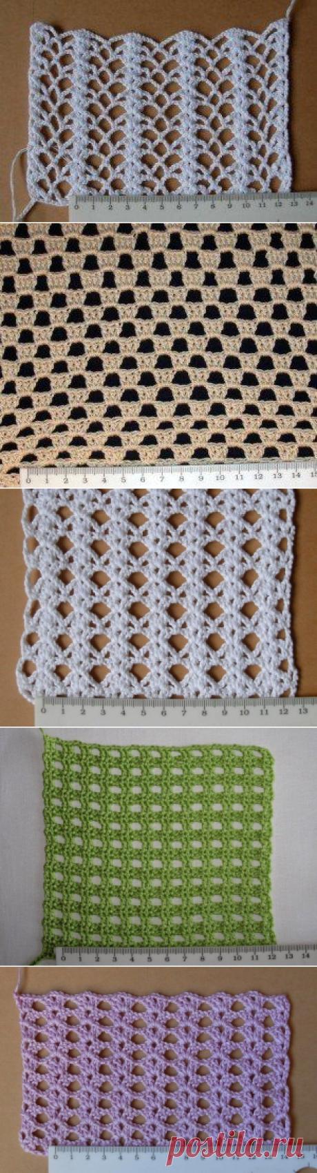 Варианты вязания сеточек