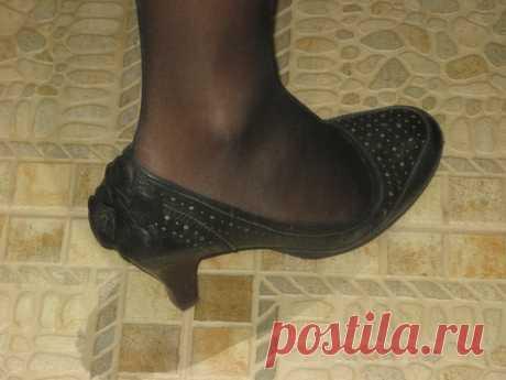 Остальное: апгрейд туфель (серия переделки) (переделка туфель, декор из кожи) » ProstoDelkino.com - поделки своими руками.
