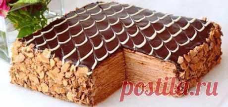 Добрый повар: Торт Наполеон Шоколадно-сливочный