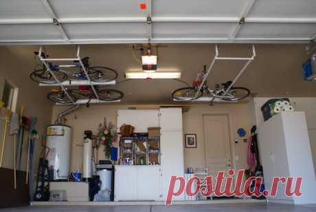 Велосипеды под потолком