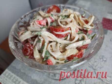 Никто не догадался, что салат из крабовых палочек. Как дорого подать дешевые крабовые палочки (очень вкусно) | Домсоветы | Яндекс Дзен