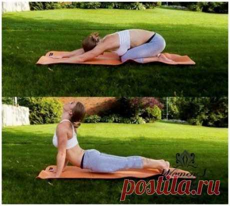 Йога здоровая спина | Женское кредо