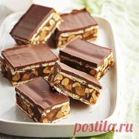 Шоколадные батончики с арахисом