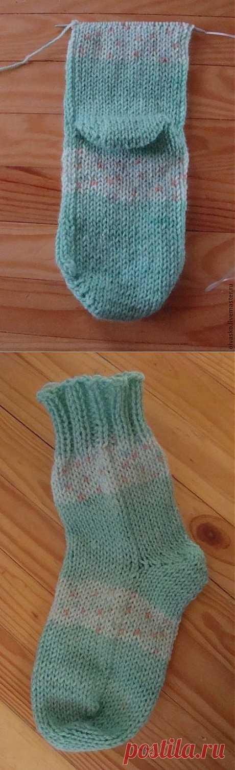 Вяжем носки на двух спицах без шва! - Ярмарка Мастеров - ручная работа, handmade