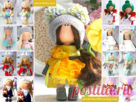 Fabric Handmade Doll Puppen Interior Doll Soft Textile Doll   Etsy Hello, dear visitors!  This is handmade textile doll created by Master Natalia Pe (Moscow, Russia). Doll is made by order. Order processing time is 5-7 calendar days.  All dolls stated on the photo are made by artist Natalia Pe. You can find them in our shop searching by artist name: