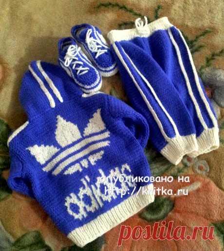 ШИКАРНЫЙ вязаный детский костюм Adidas. Работа Валентины, Вязание для детей
