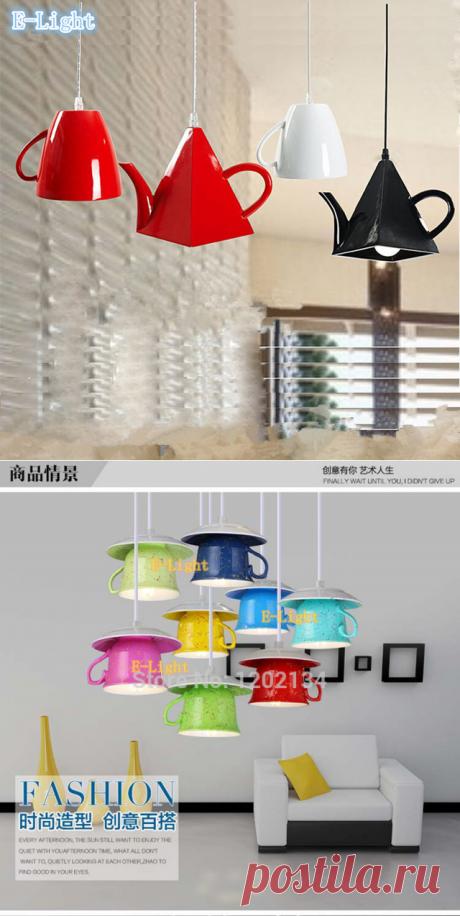 Керамические светильники в форме посуды - от 1221 руб. Доставка бесплатная в любой город!