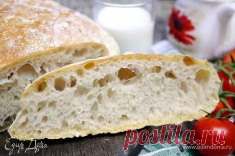 Хлеб без замеса. Ингредиенты: мука хлебопекарная, дрожжи сухие, соль