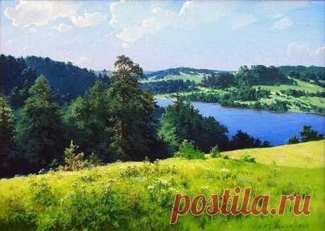 Пейзажи Александра Булакова — широкие, привольные, родимые края!