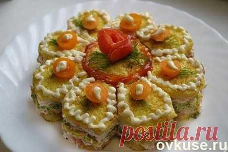 Торт закусочный овощной с сырным кремом - Простые рецепты Овкусе.ру