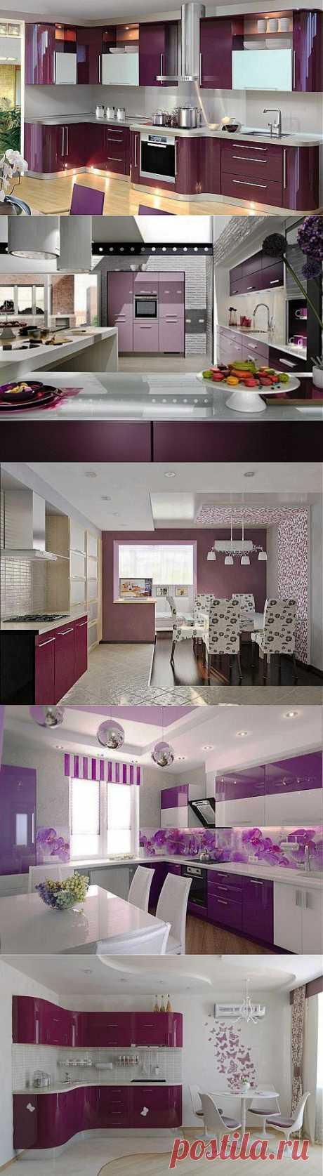 33 лиловых настроения в интерьере фиолетовой и сиреневой кухни | ВСЁ ДЛЯ ДОМА