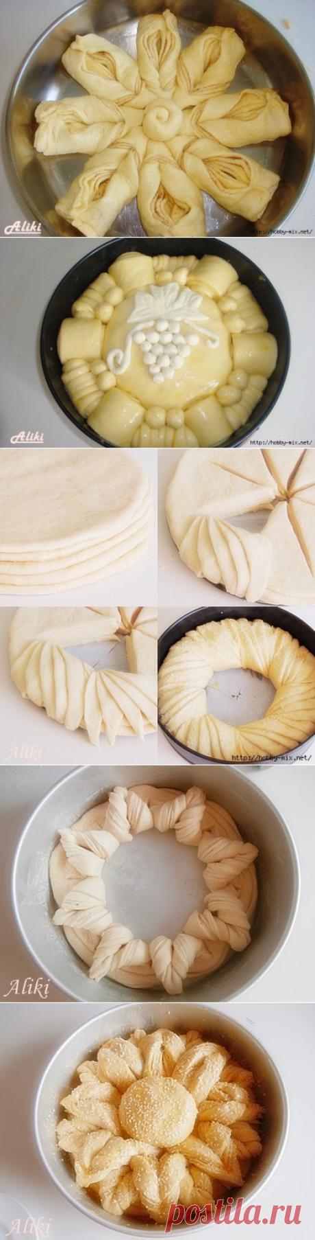 Красивая выпечка- пироги. 5 способов разделки теста