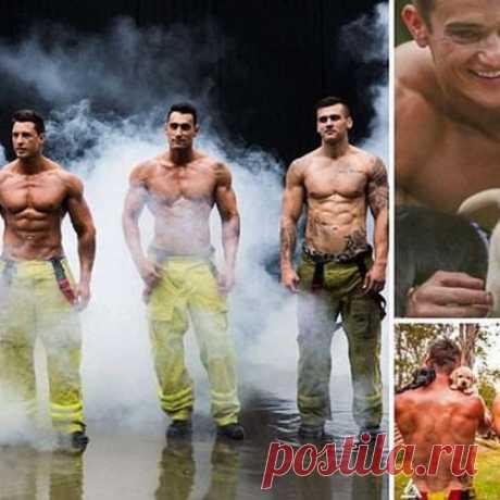 Австралийские пожарные разделись для благотворительного календаря...ммм...(мальчикам лучше не смотреть)))