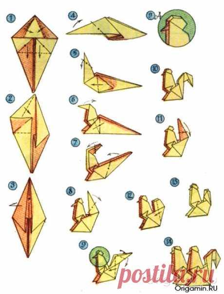 Оригами петух из бумаги - Все об оригами