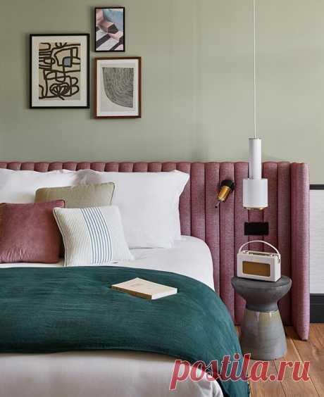 Спальня с цветом: 25 примеров