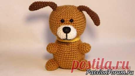 Маленькая собачка крючком - запись пользователя VolframiY (Светлана) в сообществе Мир игрушки в категории Вязаные игрушки. Мастер-классы, схемы, описание.
