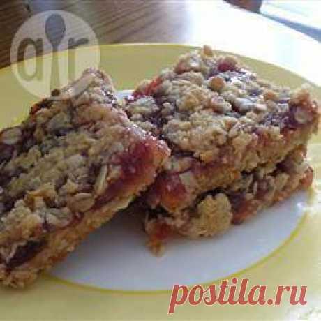 Рецепт: Овсяные пирожные-крошка с малиновым вареньем - все рецепты России