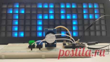 Часы – матрица на Arduino и адресных светодиодах WS2812B.