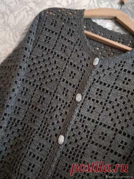 Кардиган ,серый цвет не скучно – купить в интернет-магазине на Ярмарке Мастеров с доставкой - GN7M7RU   Павлодар
