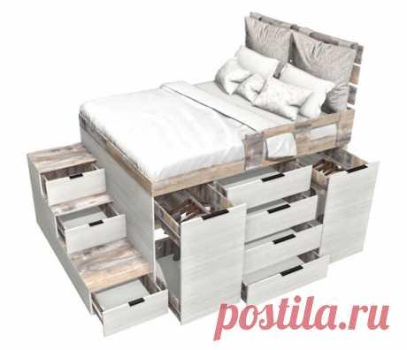 Кровать-комод в однушке. И гардеробная, и спальня одновременно. Версия 2. Реализация. | flqu.ru - квартирный вопрос. Блог о дизайне, ремонте