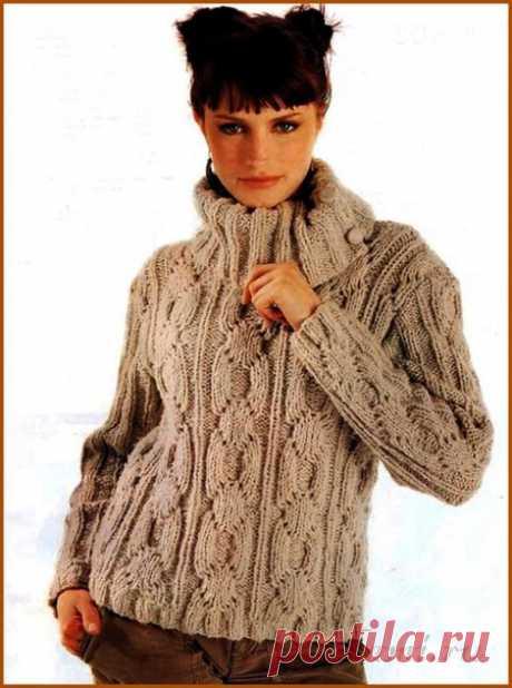 """Вязаный свитер спицами » Сайт """"Ручками"""" - делаем вещи своими руками"""