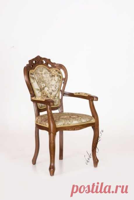 Классическое кресло с декоративными элементами резьба по дереву: дизайн, вид