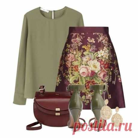 Одна юбка с цветочным принтом и 10 образов с ней