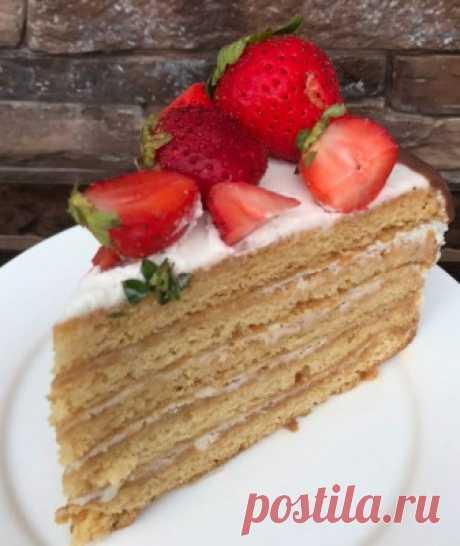 Медовый торт (вариант без раскатки коржей)