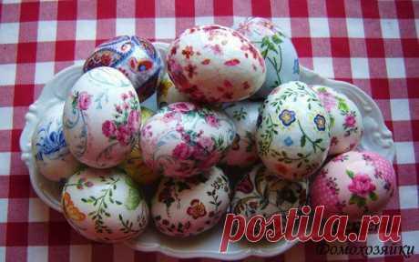 Оригинальная окраска яиц к Пасхе.
