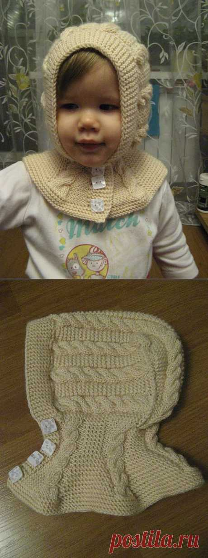 МК по вязанию шапки-шлема.