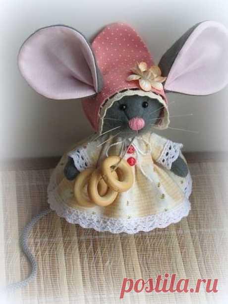 Симпатичная мышка - выкройка