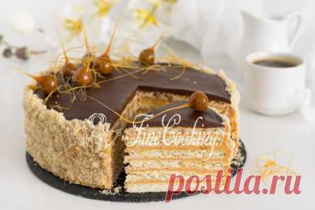 Tanit Retsept's cake of home-made cake which will be pleasant to fans of shortcake dough and boiled condensed milk.